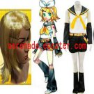 Vocaloid Kagamine Rin Cosplay Costume And Wig