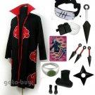 Naruto Cosplay Akatsuki cloak Hidan Costume DHL Shipping
