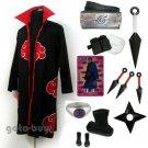 Naruto Cosplay Akatsuki cloak Uchiha Madara Tobi Costume DHL Shipping