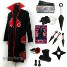 Naruto Cosplay Akatsuki cloak Uchiha Itachi Costume DHL Shipping