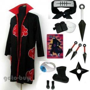 Naruto Cosplay Akatsuki cloak Uzumaki Nagato Pein Costume DHL Shipping