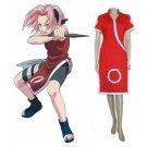 Naruto Haruno Sakura Cosplay Costume