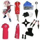 Naruto Haruno Sakura Cosplay Costume and accessories