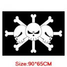 One Piece Marshall D Teach Pirates Crew Cosplay Flag