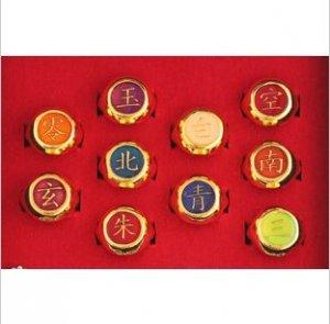 Naruto Cosplay full Naruto Akatsuki Golden Rings Set