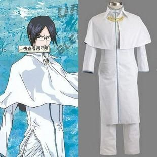 Bleach Ishida Uryuu 2nd  Mens cosplay costume