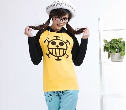 One Piece Trafalgar Law Cosplay Costume Sweater And Hat