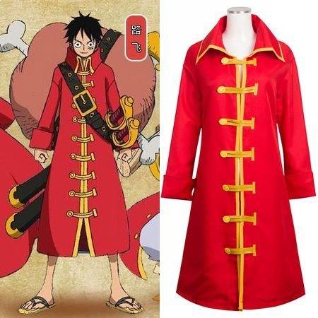 One Piece Monkey D Luffy Cloak Cosplay Costume