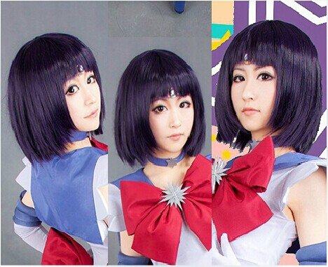 Sailor Moon Sailor Saturn Tomoe Hotaru Cosplay Wig