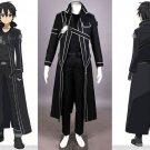 Sword Art Online Kirigaya Kazuto Kirito Cosplay Costume