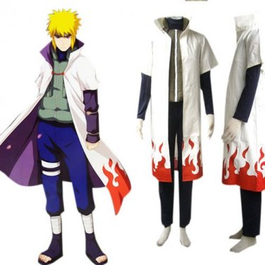 Naruto Yondaime 4th Hokage Namikaze Minato Cosplay Costume