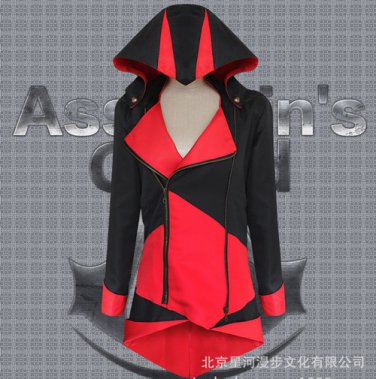 Assassin's Creed III Cosplay Connor Costume Red And Black Coat