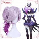 League of Legends LOL Luxanna Crownguard Dark Elements Cosplay Wig
