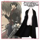 Attack on Titan Shingeki no Kyojin Eren Jaeger Mikasa Ackerman Cosplay Long Cloak