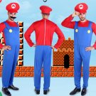 Super Mario Bros Mario Men's Red Cosplay Costume
