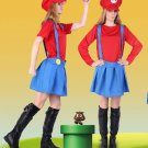 Super Mario Bros Mario Women's New Second Red Cosplay Costume