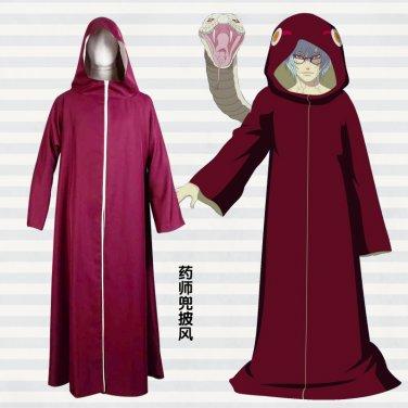 Naruto Yakushi Kabuto New Cloak Cosplay Costume