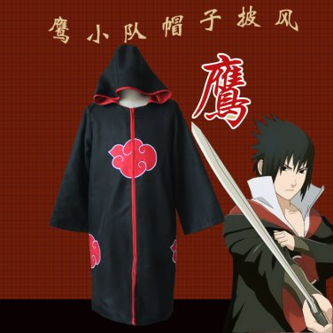 Naruto Uchiha Sasuke Taka Hebi Cloak Cosplay Costume