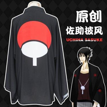 Naruto Uchiha Sasuke Sharingan Cloak Cosplay Costume