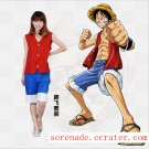 ONE PIECE Monkey D Luffy Cosplay Costume And Hat And Shoes