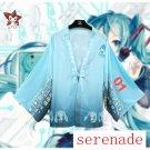 Vocaloid Hatsune Miku Kimono Bathrobe Cloak Cosplay Costume