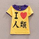 NO GAME NO LIFE Sora T-shirt Cosplay Costume