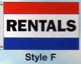 RENTALS Nylon Flag