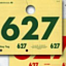 Dispatch Service Dept Tags - 3 Digit #000-999