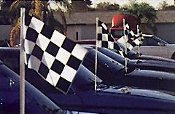 Antenna Flags - Checkered