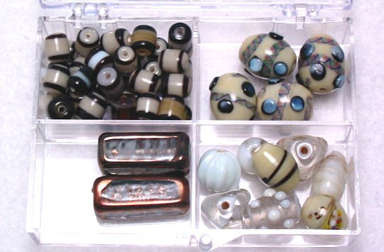 Tan Czech & Lampwork Glass Bead Kit with Box