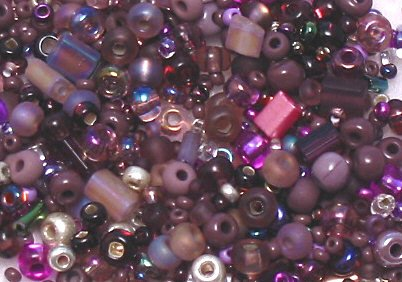"Purple Fizz Glass Seed Bead Mix 6"" Tube"