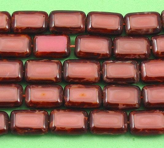 Rosaline Pink Picasso Glass Table Cut Window Beads