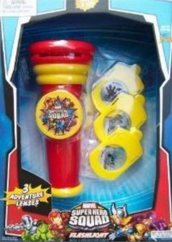 Marvel Superhero Squad Flashlight with 3 Projector Discs