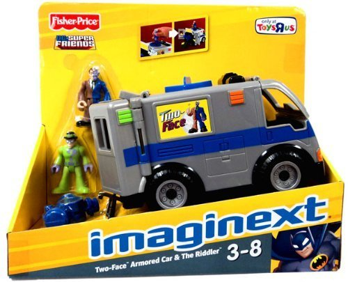 Imaginext DC Super Friends Exclusive Vehicle TwoFace Armored Car with Riddler