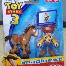 Imaginext Disney / Pixar Toy Story 3 Figure Woody with Bullseye