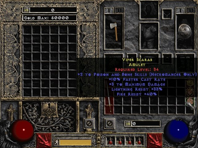 Viper Scarab Amulet