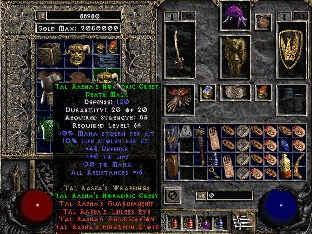 Tal Rasha's Horadric Crest Death Mask