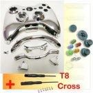 Xbox 360 Controller Chrome Shell Housing Case + Button