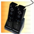 Charger Station Dock + 2 X Battery for Wii Remote BLACK