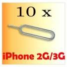 10 Sim Card Tray Holder Eject Pin Key Tool iPhone 2G/3G