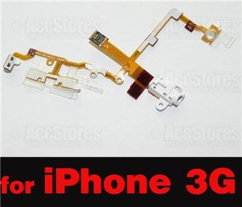 Headphone Audio Jack Flex Cable for iPhone 3G WHITE