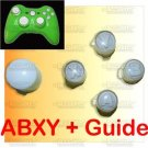 WHITE A B X Y + Guide Button for Xbox360 Controller