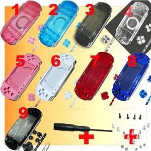 PSP 1000 Full Housing Parts Faceplate Shell + Screws