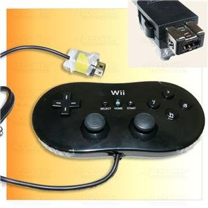 New BLACK Classic Controller f Nintendo Wii Video Game