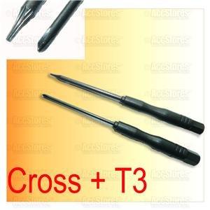 Cross + T3 Torx Screw Driver PSP Slim 2000 Repair Tool