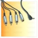 S-Video AV Audio Video Cable f SONY PSP Slim 2000 3000