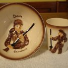 Vintage Davy Crockett Bowl and Cup