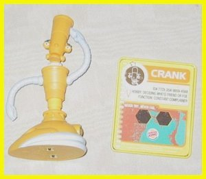 CRANK Robots The Movie Burger King Fast Food Light Up Kids Meal Toy FREE SHIPPING