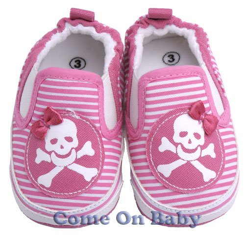 New Infant Girls Toddler Baby Crib Shoes 6-9m (c02101)