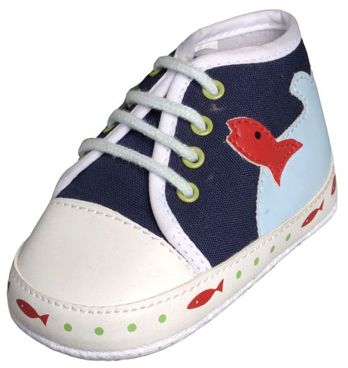 New Infant Boys Toddler Baby Crib Shoes 6-9m (b01201)